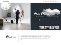 """Верстка главной страницы фото студии """"PhotoGraphy"""""""