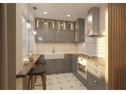 Визуализация квартиры-студии.