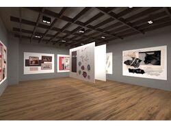 Визуализация помещения для выставки.
