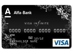 Дизайн карточки для альфа банка