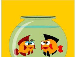 Влюблённые рыбки