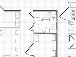 Чертеж в Visio - план этажа с оборудованием