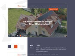 Дизайн домашней страницы Naturwaerme