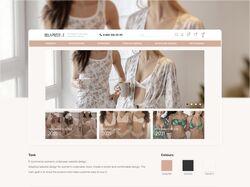 Дизайн сайта женского нижнего белья