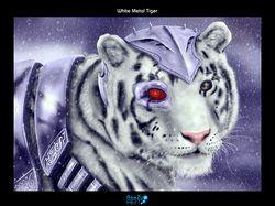White Metal Tiger