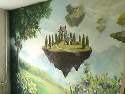 роспись стены  вдетсмкой для девочки г.Москва