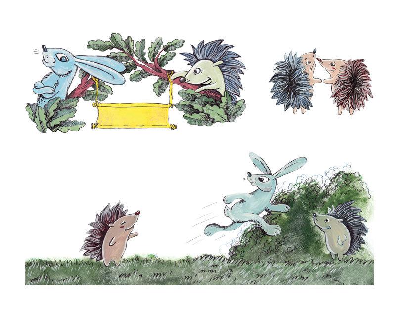Картинки зайца ежа