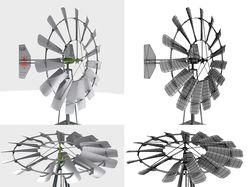 3d модель ветряного насоса