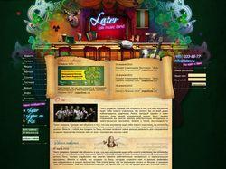 Сайт музыкальной группы Later