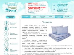 Сайт для сети приемных пунктов химчистки-прачечной