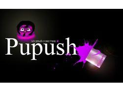"""Финальный логотип """"Pupush"""""""