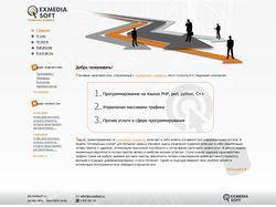 Сайт-визитка для сайта программистов