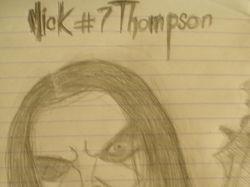 Мик Томпсон. Набросок.