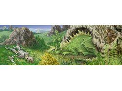 Локация с драконом (паралакс)