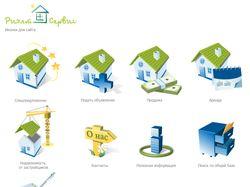 Иконки на сайт агенства недвижимости