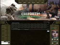 Дизайн для сайта Call of Duty 4