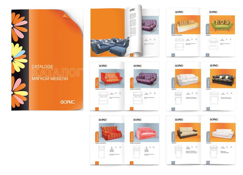 Дизайн каталога мягкой мебели