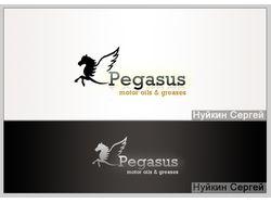 Логотип для сайта автомасел PegasusOil