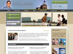 Верстка главной страницы сайта Chris Perone