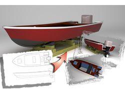 Лодка по эскизу