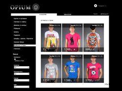 """Интернет-магазин модной одежды """"Opium"""""""
