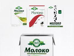 Дизайн для упаковки молока