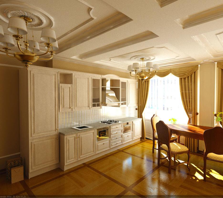 Кухня студия классика дизайн