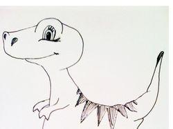 Набросок динозавр