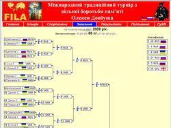 Скрипт отображения результатов соревнований