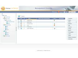 Дизайн интерфейса LiveBackup Server Console