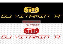 Логотип DJ VITAMIN 'A' (2-цветовых варианта)