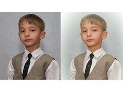 Ретуширование фотографии мальчика