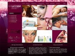 Сайт салона красоты Le Cristal