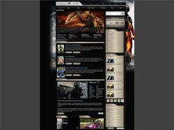 JustGames ( Макет сайта игровой тематики)