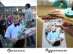 Коллаж-имитация рисунка-цветокоррекция
