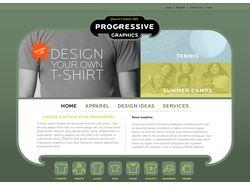 Магазин кастомных футболок «Progressive Graphic»