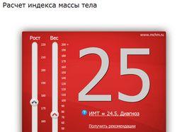 Расчет индекса массы тела. Приложение ВКонтакте
