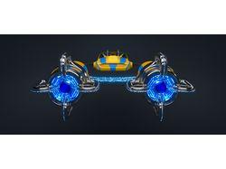 Гоночный корабль будущего (ракурс1)