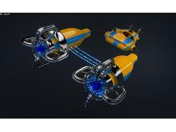 Гоночный корабль будущего (ракурс2)