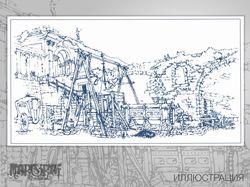 Иллюстрация на тему производства окон (заказ)