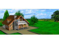 Дом с ландшафтом