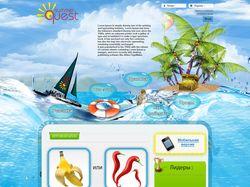 Дизайн игрового сайта Summer Quest