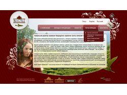 Разработка флэш сайта для чайной компании Betatea