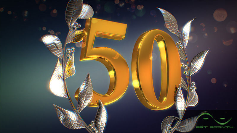 Открытка с юбилеем 50 анимация