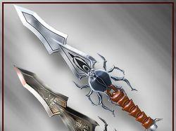 нож для  игрока созданый под закаказ его образа