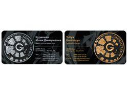 Дизайн визитной карточки для компании «Рекурсия»