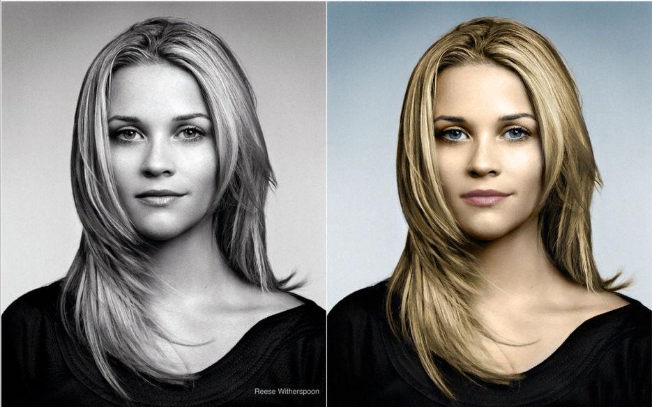 Как сделать цветным ч/б фото в фотошопе