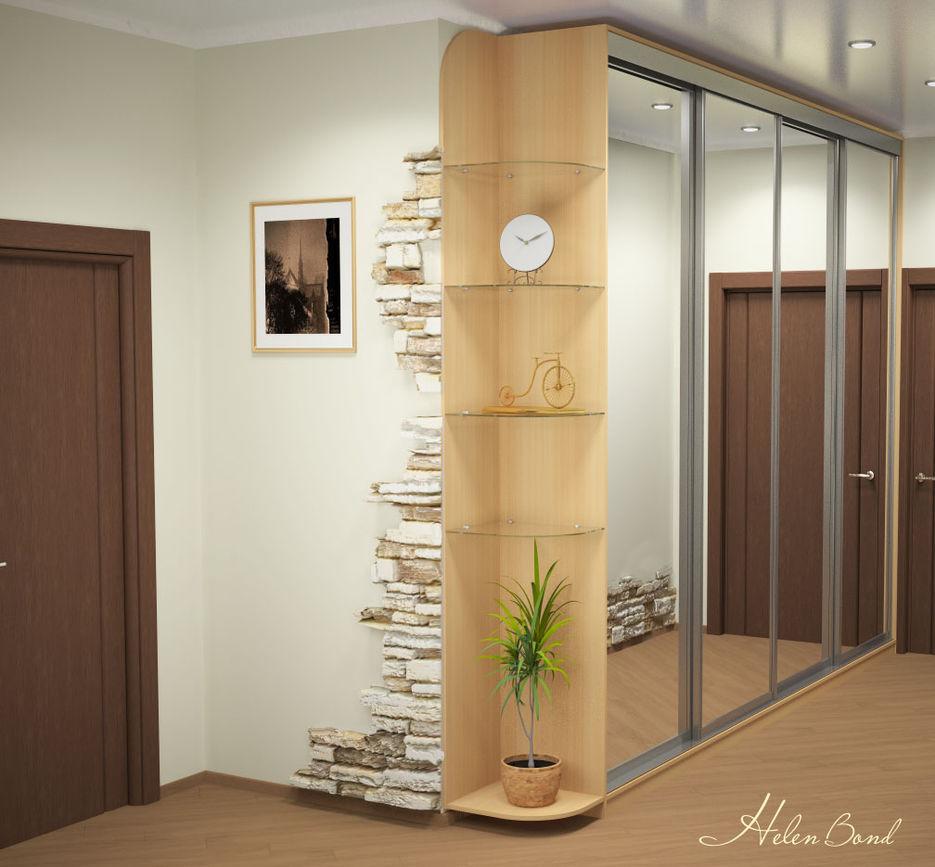 Шкафы встроенные в узкую прихожую дизайн идеи