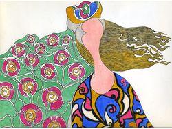 Женщина в цветах