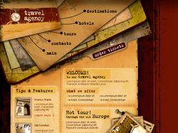 Верстка титульной страницы на тему туризм